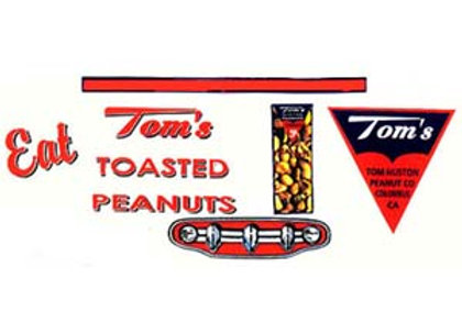 Roberts Tom's Toasted Peanuts Truck Decals