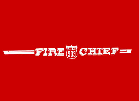 FIRE CHIEF 503 PEDAL CAR DECALS