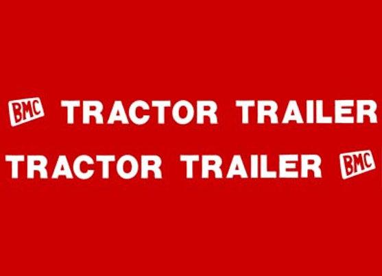 BMC TRACTOR TRAILER DECALS