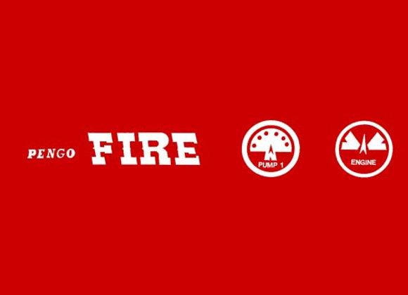 PENGO FIRE DECALS