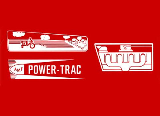 AMF POWER TRAC PEDAL TRACTOR DECALS