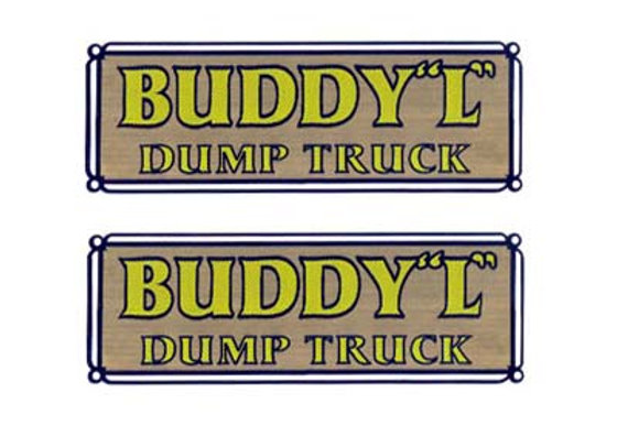 BUDDY L DUMP TRUCK DECALS
