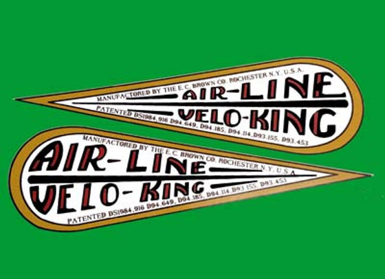 AIRLINE VELO-KING DECALS VELOCIPEDE