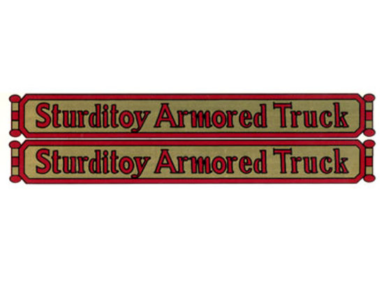 STURDITOY ARMORED TRUCK DECALS
