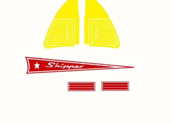 Skipper Pedal Boat Decals