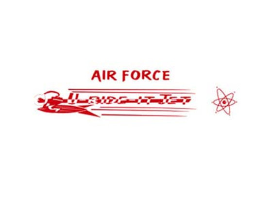 AIR FORCE PEDAL PLANE DECALS