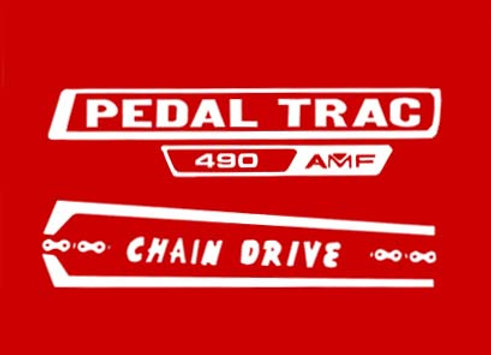 PEDAL TRAC 490 DECALS