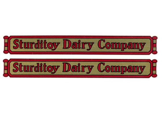 STURDITOY DAIRY COMPANY