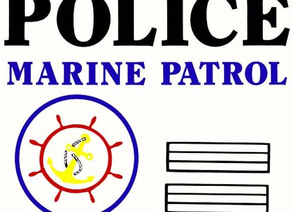 Marine Patrol Pedal Boat Decals