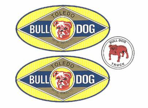 American National BULL DOG Truck Decals