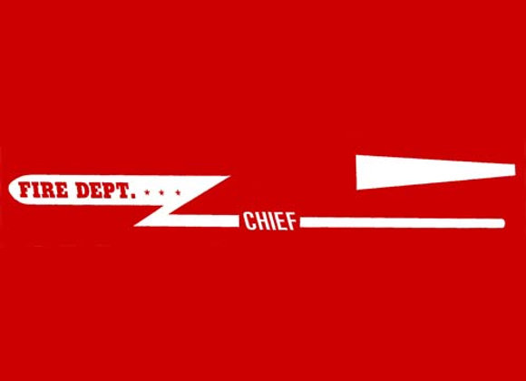 FIRE DEPARTMENT CHIEF PEDAL CAR DECALS