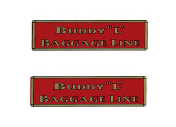 BUDDY L BAGGAGE LINE DECALS