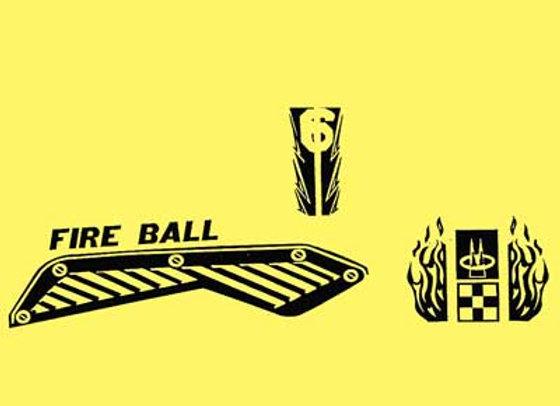 Fire Ball Racer Decals