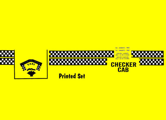 Murray Taxi Cab Pedal Car Decals