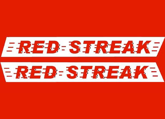 Red Streak Wagon Decals