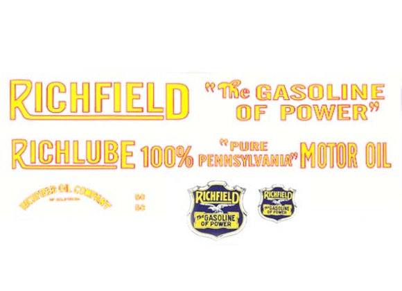 Richfield Gasoline of Power Truck Decals