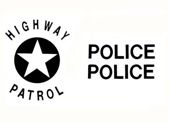 POLICE HIGHWAY PATROL DECALS