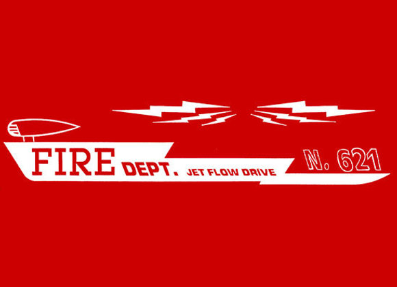 FIRE DEPARTMENT 621 PEDAL CAR DECALS