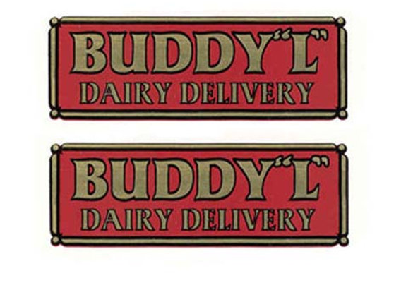 BUDDY L DAIRY DELIVERY DECAL