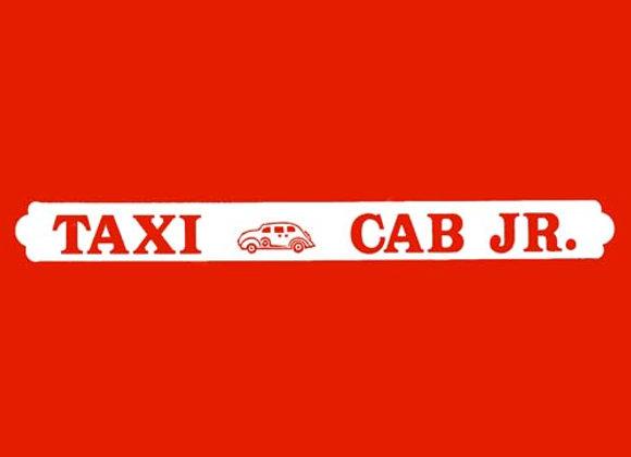 Taxi Cab Jr. Wagon Decals