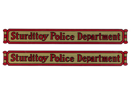 STURDITOY POLICE DEPARTMENT DECALS