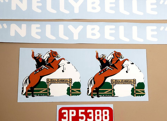 Roy Rogers Nellybelle Jeep Decals