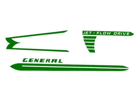 Murray General Pedal Car Decals