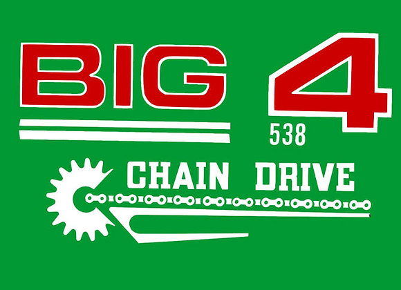 BIG 4 TRACTOR 538 DECAL SET