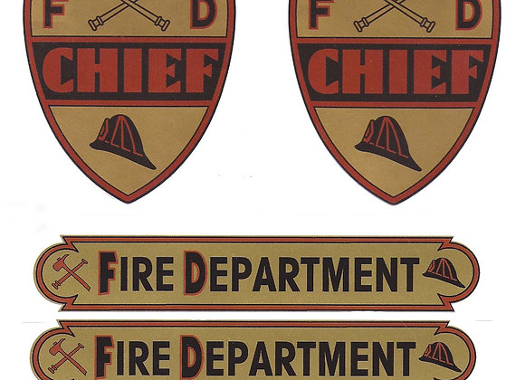FIRE DEPARTMENT PRINTED SET