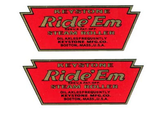KEYSTONE RIDE'EM DECALS