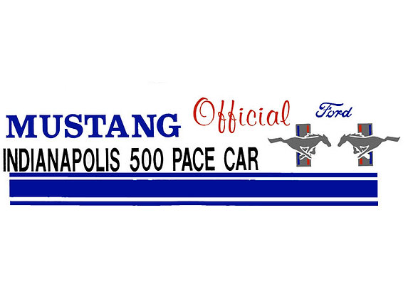 Mustang Pace Car Decals