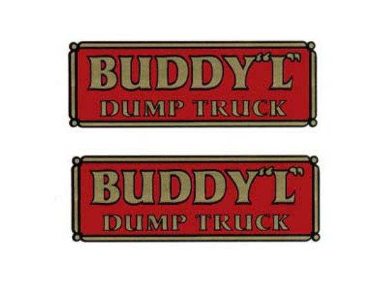 BUDDY L CITY DUMP TRUCK DECALS