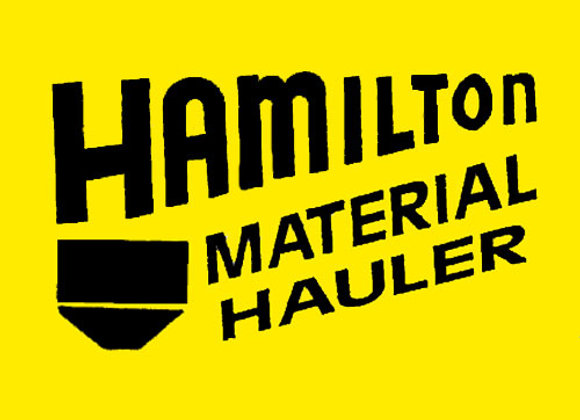 HAMILTON MATERIAL HAULER DECAL SET