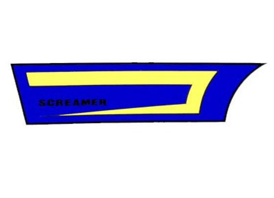 Screamer Chain Guard  Decal