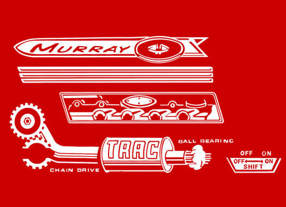 MURRAY TRAC PEDAL TRACTOR DECALS