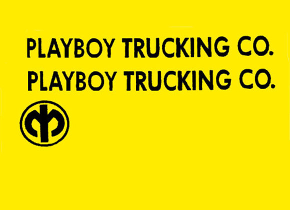 PLAYBOY TRUCKING COMPANY DECALS