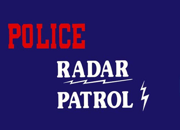 Police Radar Patrol Decals 1955-58