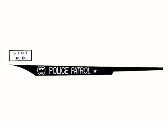 POLICE PATROL DECALS