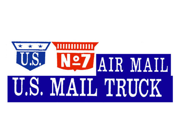 US AIR MAIL PEDAL TRUCK DECALS