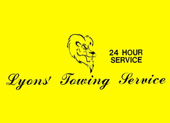 LYON'S TOWING SERVICE DECALS