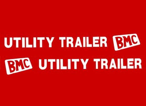 BMC UTILITY TRAILER TRAILER DECALS