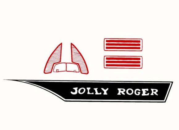 Jolly Roger Pedal Boat Decals