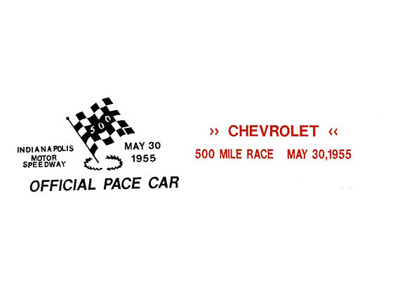 Chevy Pace Car Pedal CarDecals