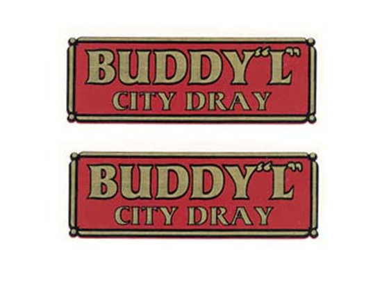 BUDDY L CITY DRAY DECALS