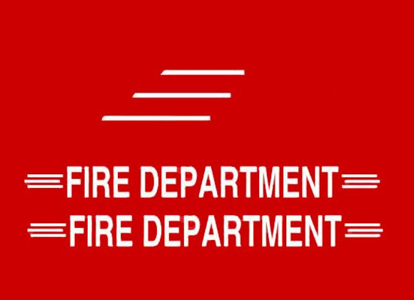 FIRE DEPARTMENT WORDS AND SIDE DECALS