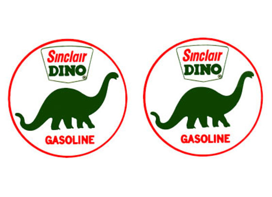Sinclair Dino Gas Decals