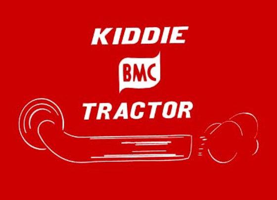 BMC KIDDIE TRACTOR  DECALS
