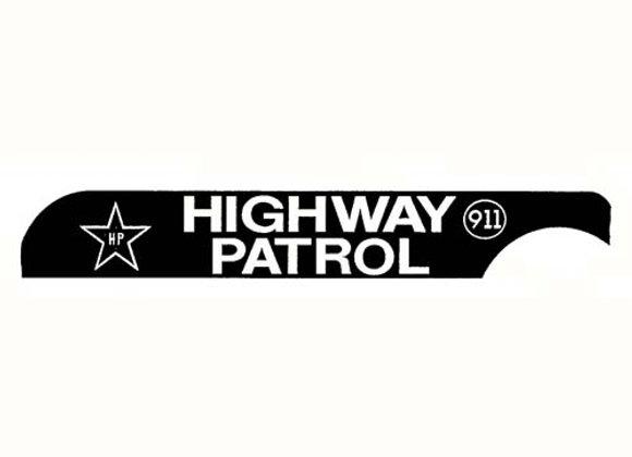 HIGHWAY PATROL 911 DECALS
