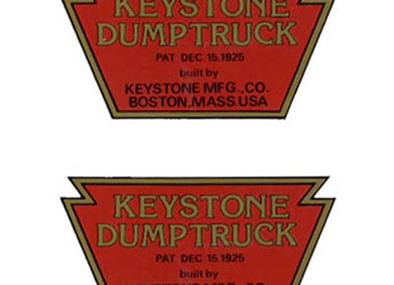 KEYSTONE DUMP TRUCK DECALS