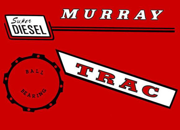 MURRAY SUPER DIESEL PEDAL CAR DECAL SET